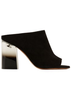 Givenchy 90mm Paris Suede Mules W/ Plexi Heel