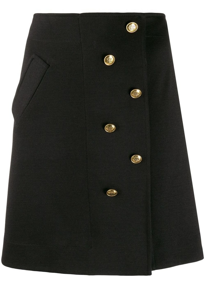 Givenchy A-line button-embellished skirt