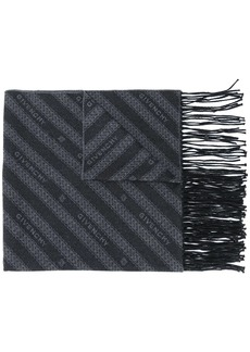 Givenchy all-over logo fringed scarf