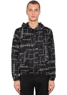 Givenchy All Over Logo Nylon Windbreaker
