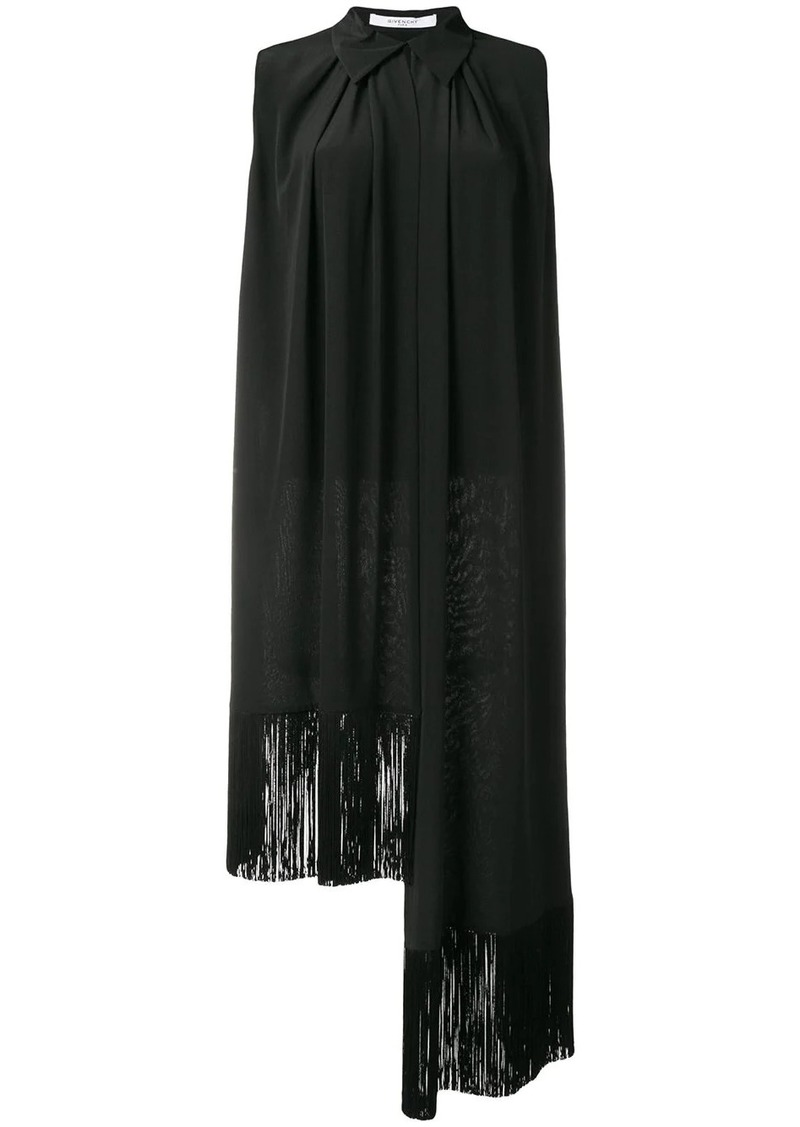 Givenchy asymmetric fringe trim blouse