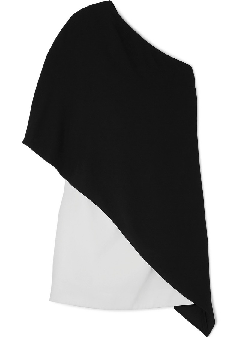 Givenchy Asymmetric Two-tone Cady Dress
