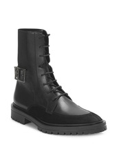 Givenchy Aviator Leather & Suede Ankle Boots