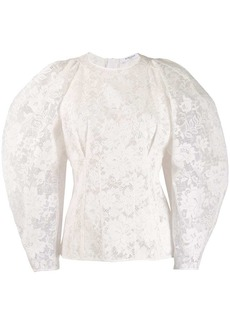 Givenchy balloon sleeve lace blouse