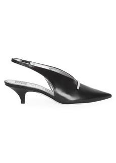 Givenchy Bar Leather Slingback Pumps
