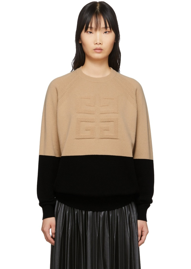 Givenchy Beige & Black 4G Sweater