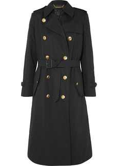 Givenchy Belted Double-breasted Cotton And Linen-blend Twill Coat