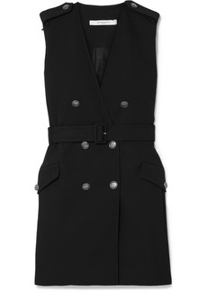 Givenchy Belted Double-breasted Grain De Poudre Wool Mini Dress