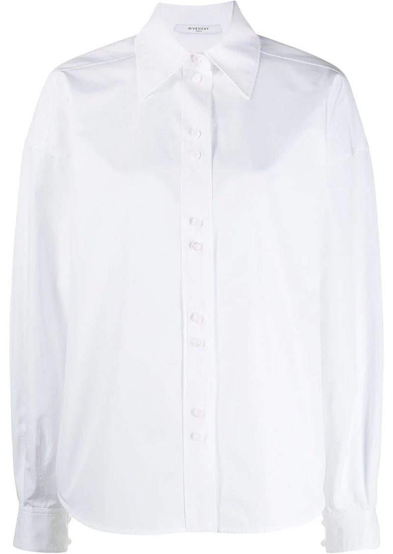 Givenchy billowing sleeves boxy shirt