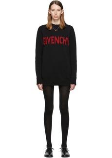 Givenchy Black & Red Logo Crewneck Dress