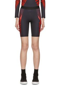 Givenchy Black & Red Neoprene Bike Shorts