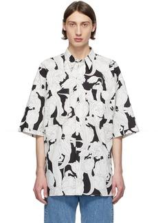 Givenchy Black & White Oversize Patch Shirt
