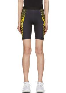 Givenchy Black & Yellow Neoprene Bike Shorts