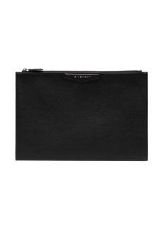 Givenchy black Antigona large leather clutch