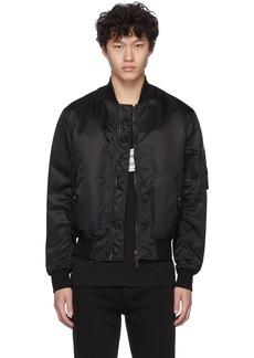 Givenchy Black Button Bomber Jacket