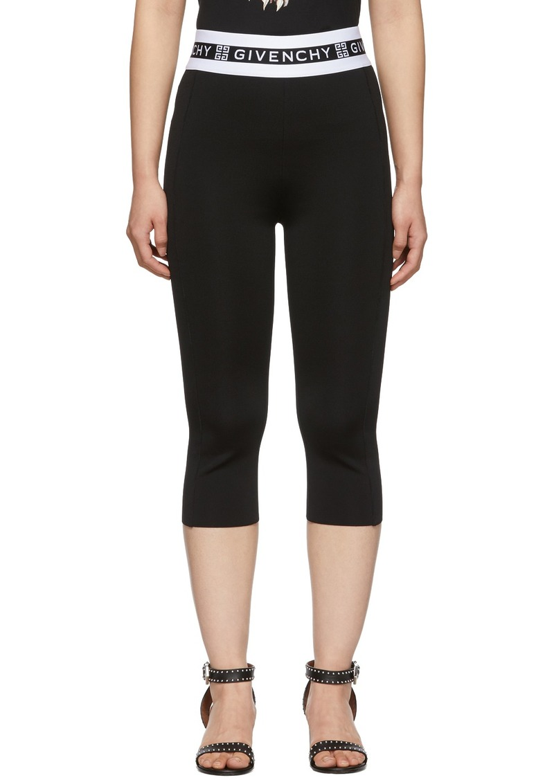 Givenchy Black Cropped Logo Leggings