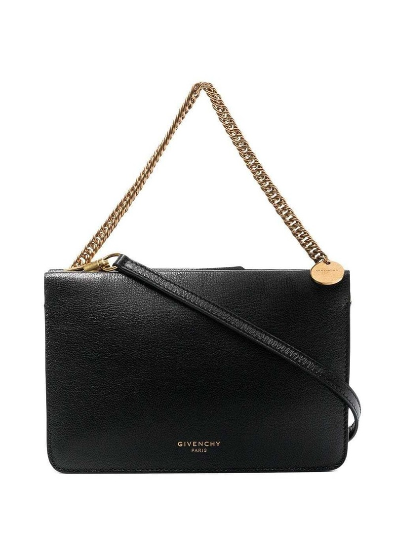 Givenchy black cross 3 leather shoulder bag
