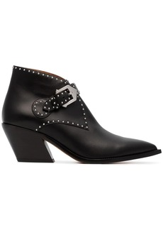 Givenchy black Elegant 60 studded leather ankle boots