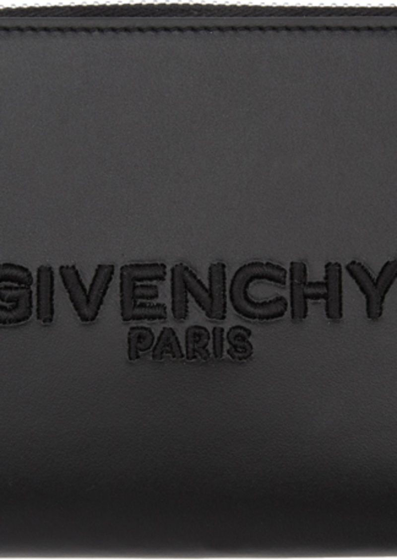 Givenchy Black Embroidered Logo Continental Wallet