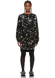Givenchy Black Floral T-Shirt Dress