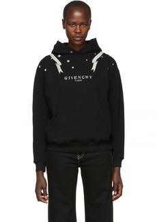 Givenchy Black Gemini Logo Hoodie