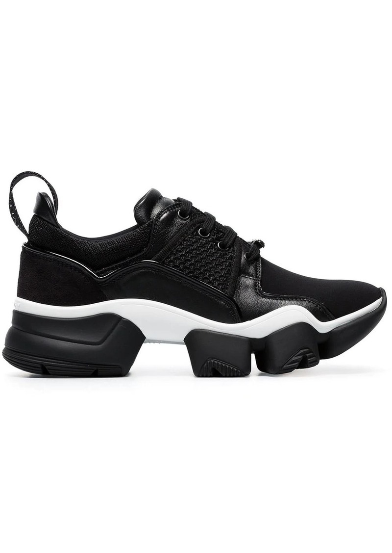 Givenchy black Jaw chunky leather low-top sneakers