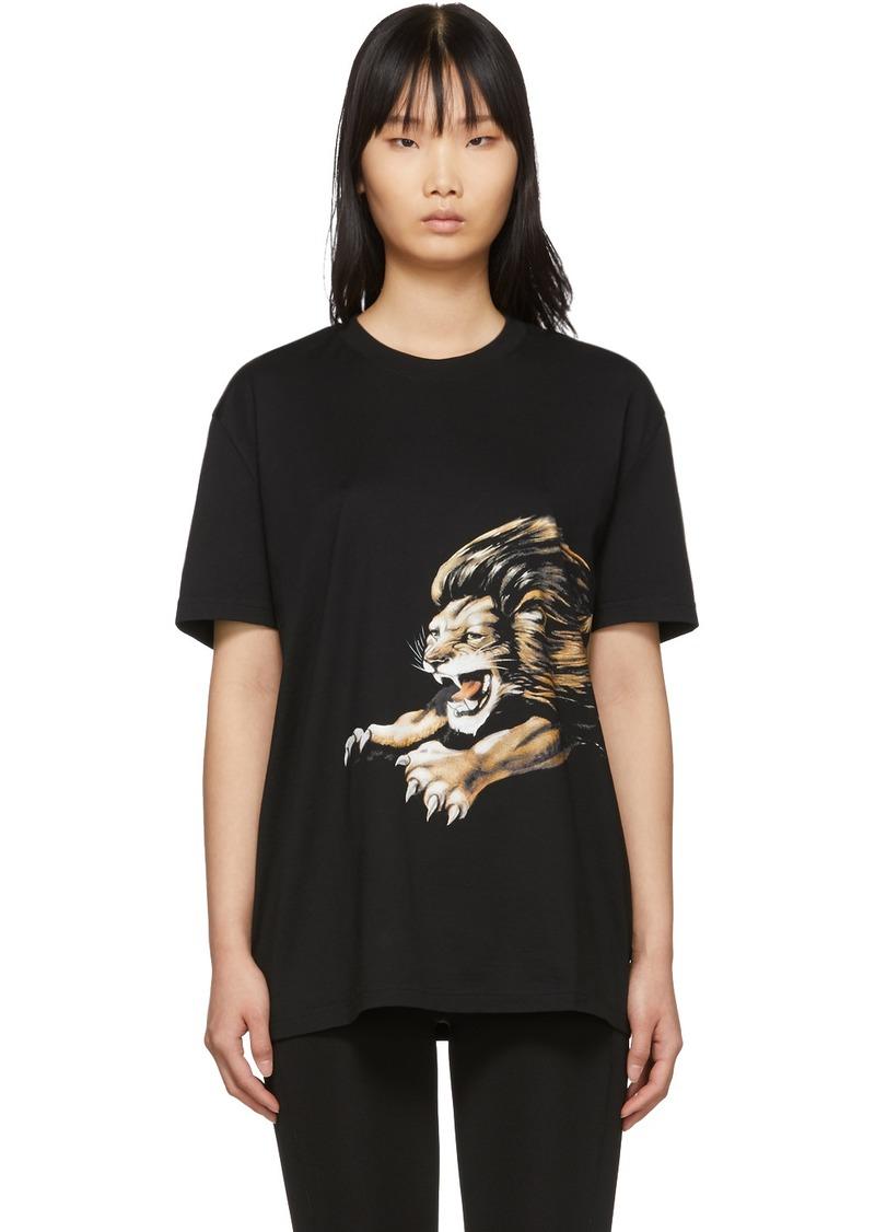 Givenchy Black Leo Signature T-Shirt