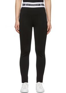 Givenchy Black Logo Band Leggings