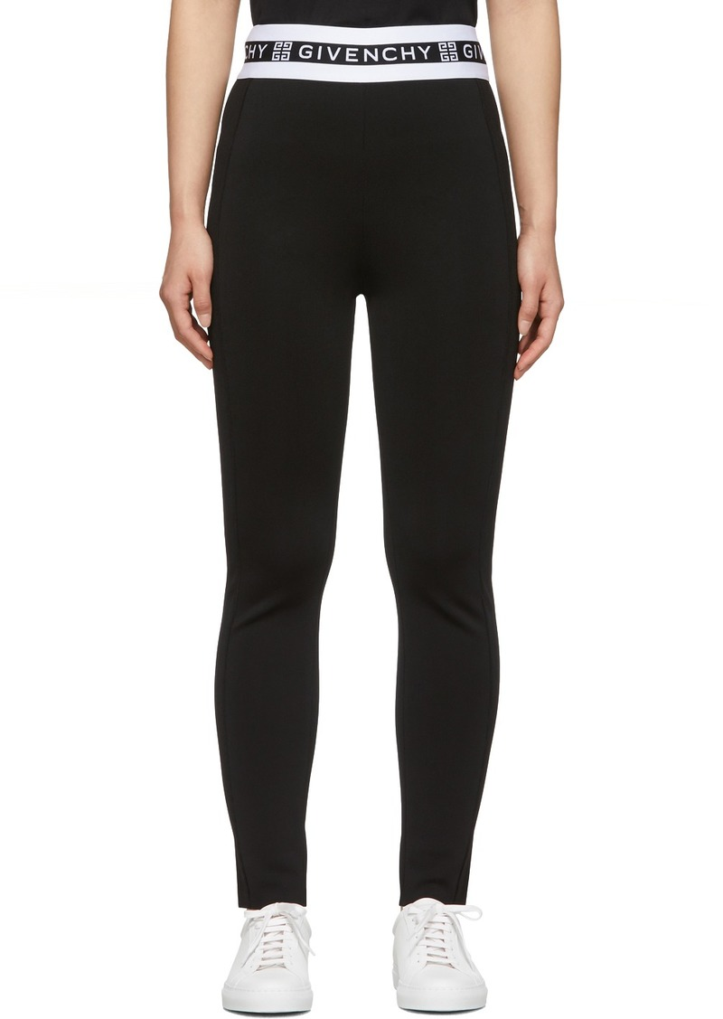 Givenchy Black Logo Band Leggings