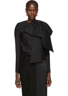 Givenchy Black Oversized Bow Blouse