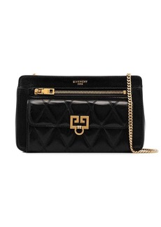 Givenchy black Pocket quilted leather shoulder bag