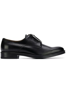 Givenchy black rider logo leather derby shoes