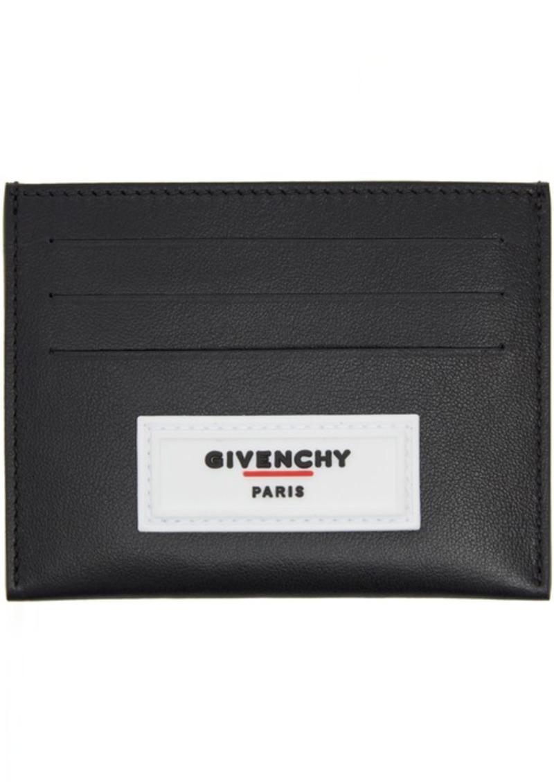 Givenchy Black Rubber Logo Card Slot