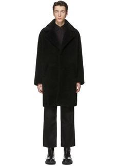Givenchy Black Shearling Oversized Coat
