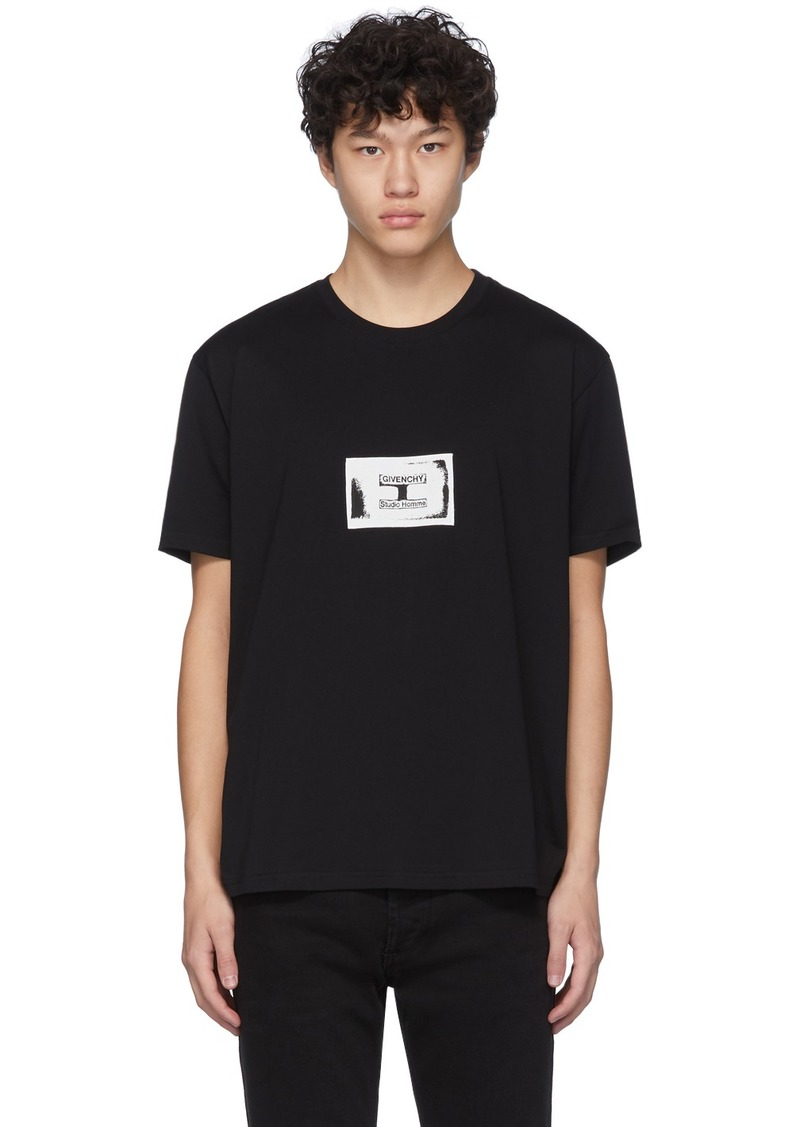Givenchy Black Stamp Patch T-Shirt