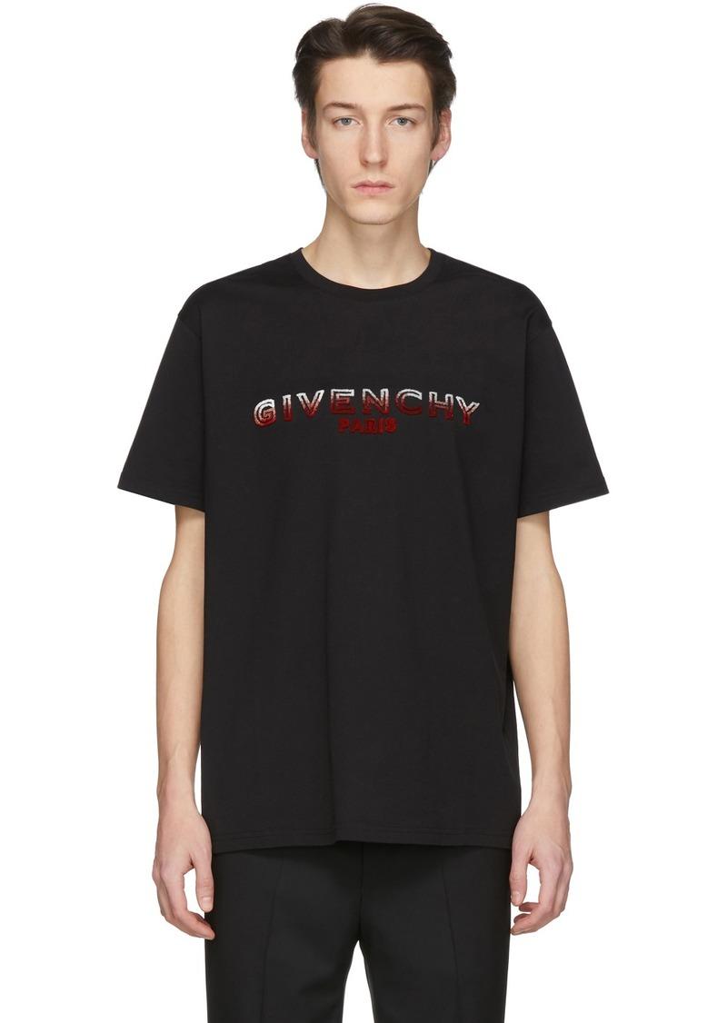 Givenchy Black Tufting Logo T-Shirt