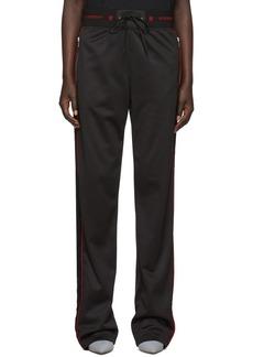 Givenchy Black Velvet Band Lounge Pants