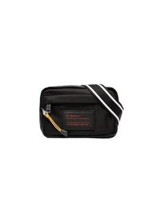 Givenchy Black, White And Red Logo Contrast Trim Bum Bag