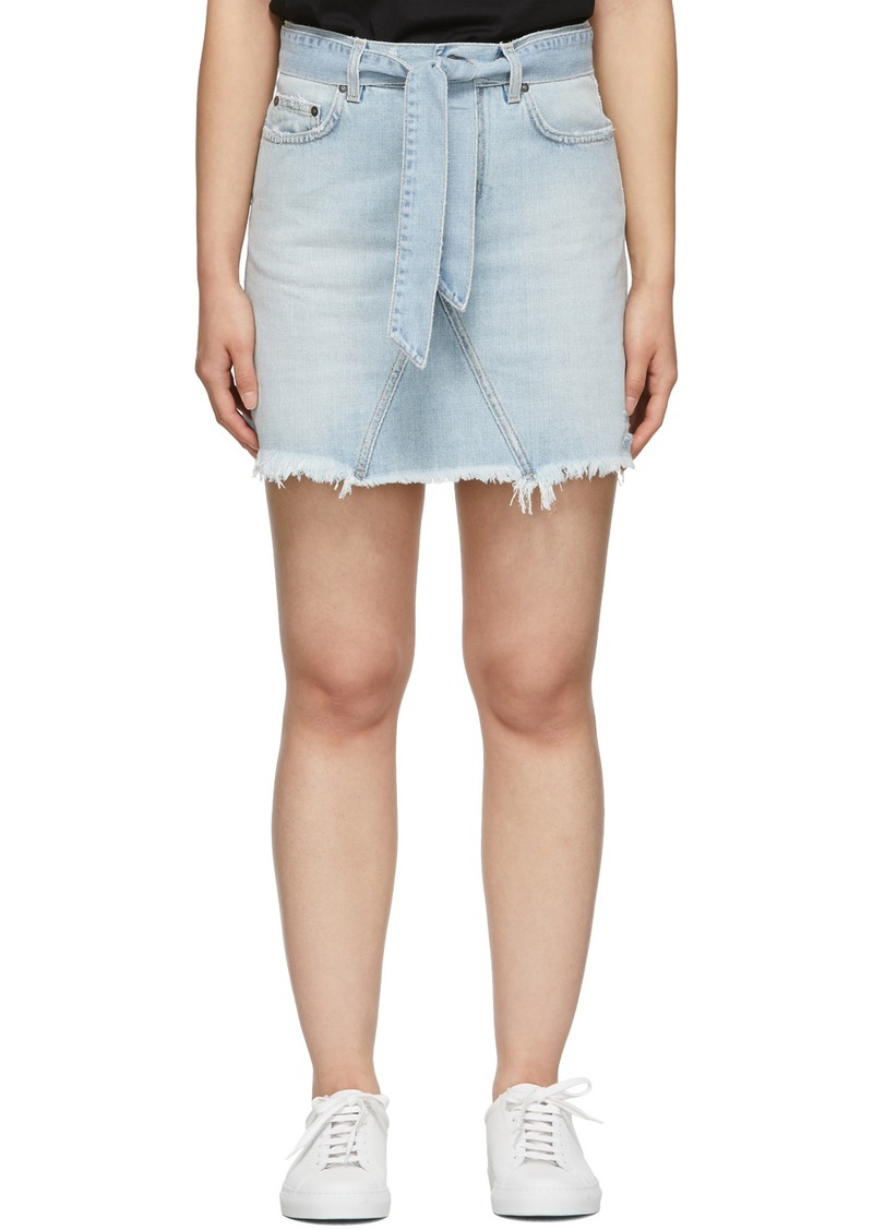 Givenchy Blue Denim A-Line Miniskirt