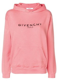 Blurred Givenchy Paris print hoodie