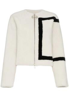 Givenchy border print shearling jacket