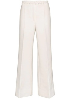 Givenchy braid-trimmed belted trousers