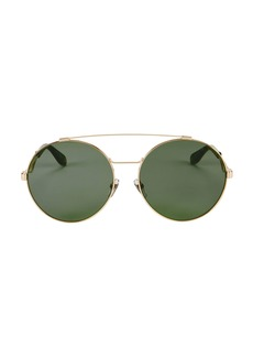 Givenchy Brow Bar Oversized Round Sunglasses