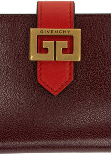 Givenchy Burgundy & Red GV3 Card Holder