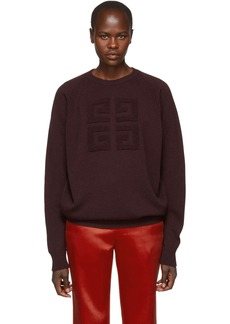 Givenchy Burgundy Cashmere Sweater