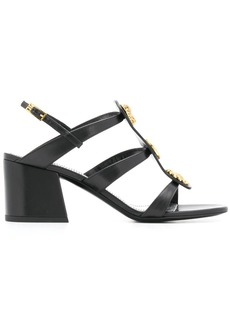 Givenchy button charm caged 70mm sandals