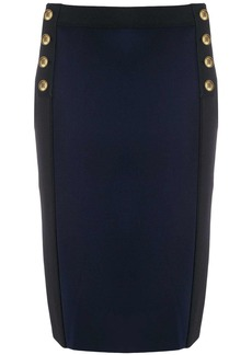 Givenchy button detail pencil skirt