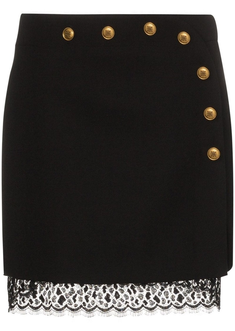 Givenchy button-embellished A-line mini skirt