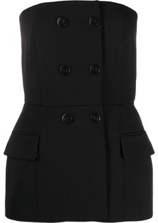 Givenchy buttoned strapless top