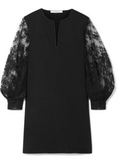 Givenchy Cady And Lace Mini Dress